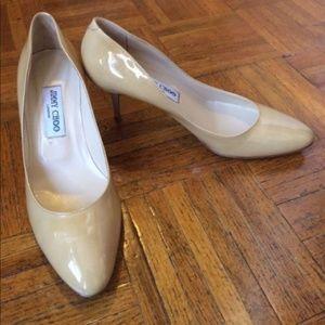2f6cf6aacdf Jimmy Choo Shoes - Jimmy Choo Irena Nude Round Toe Pumps